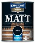 Johnstone's Speciality Paint for Wood and Metal Black Matt 750ml